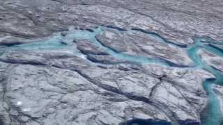 Rivers of meltwater on Greenland's ice sheet contribute to rising sea levels thumbnail