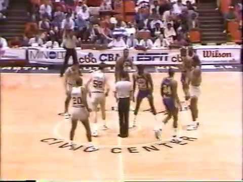 CBA Mississippi Jets vs Savannah Spirits 87 88