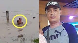 Fakta Video Viral Korban Banjir di Tol Madiun, Sosok Penolong Ternyata Seorang Anggota Polisi