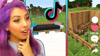 Download Recreating Minecraft TIKTOK Builds! Mp3 and Videos