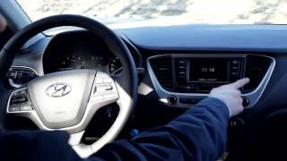 Hyundai Solaris 2017 Серый Гена из Воронежа часть 2 внутрянка смотреть