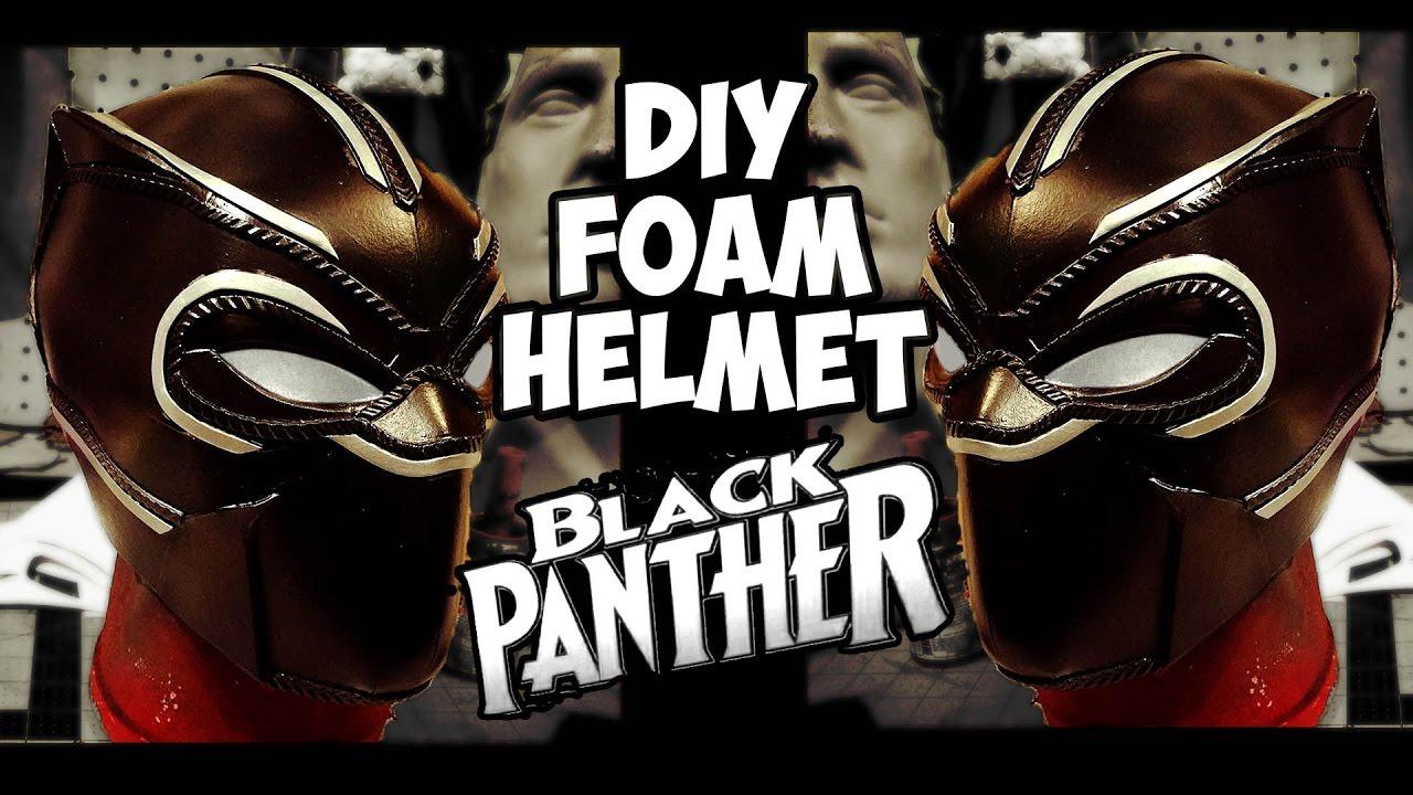 black panther pt 1 foam helmet build how to diy youtube