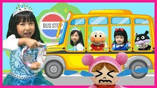 Wheels on the Bus Song | Nursery Rhymes & Good Song for kids Educational Videos バスのうた 子供のうた アンパンマン