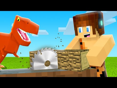 NOVA FORMA DE CORTAR MADEIRA !! - Minecraft Dinossauros #08