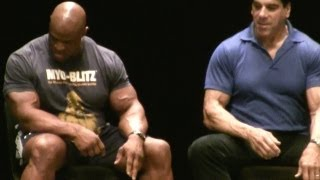 Ronnie Coleman Dorian Yates Lenda Murray Lou Ferrigno Samir Bannout Flex Wheeler at Legends Seminar
