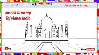 How to draw Taj mahal | Easiest drawing | LearnByArt