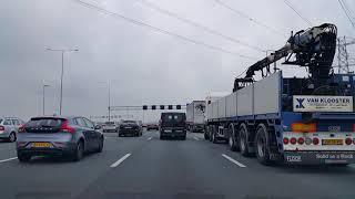 Dashcam Beelden Utrecht: A2 Toerit Maarssen ----»Knooppunt Holendrecht »Knooppunt Amstel»A10.