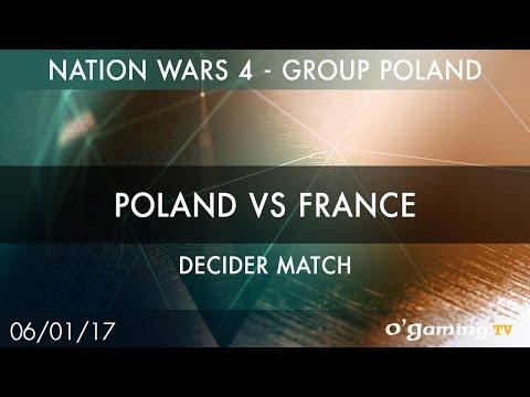 Poland vs France - Nation Wars 4 Group Poland - Decider match - Starcraft II - EN