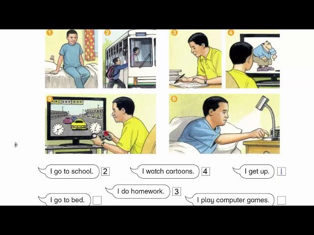 صفحة 40 الفصل الأول إنجليزي الصف الثالث