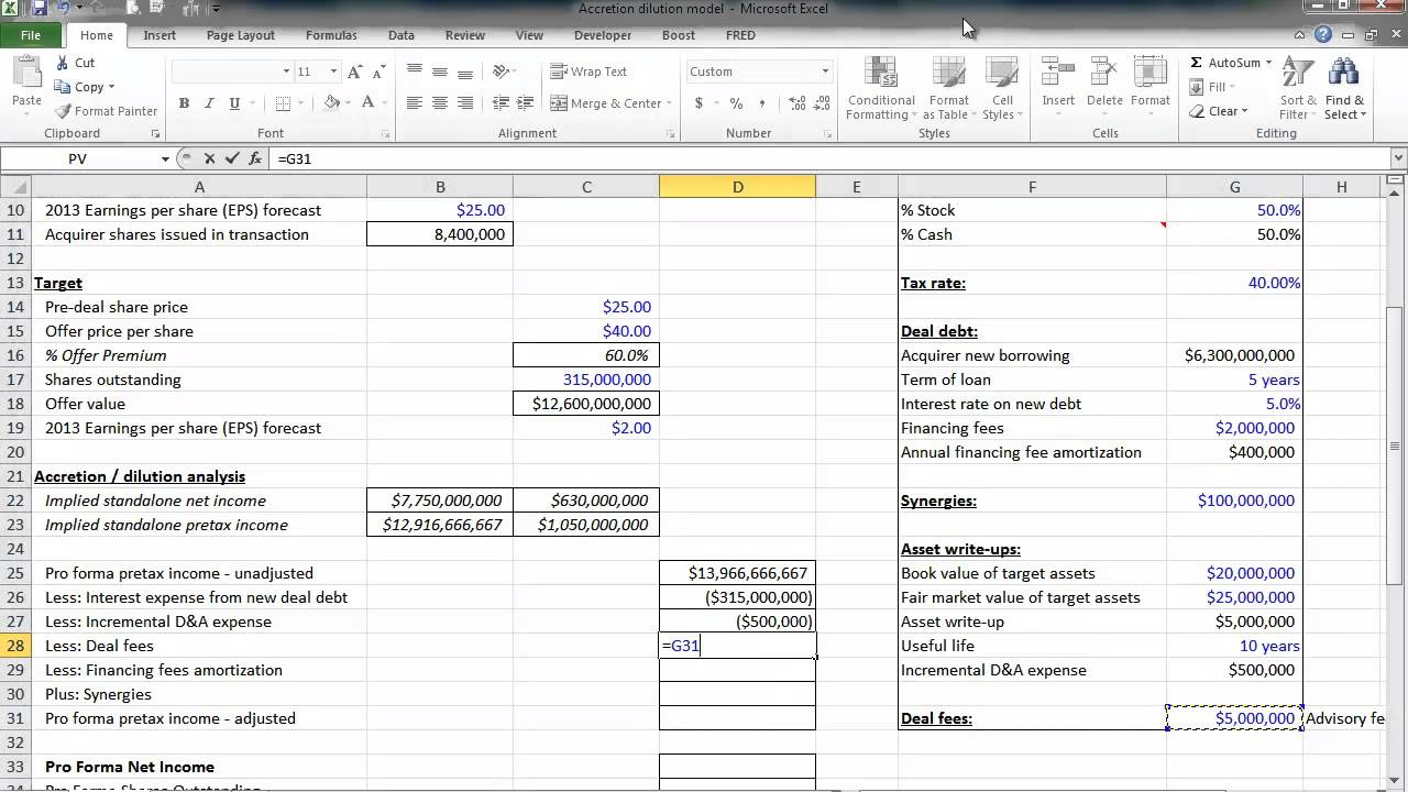 Financial statement modeling by wall street