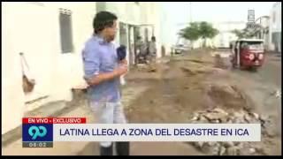 huaico en ica deja mas 800 familias afectadas
