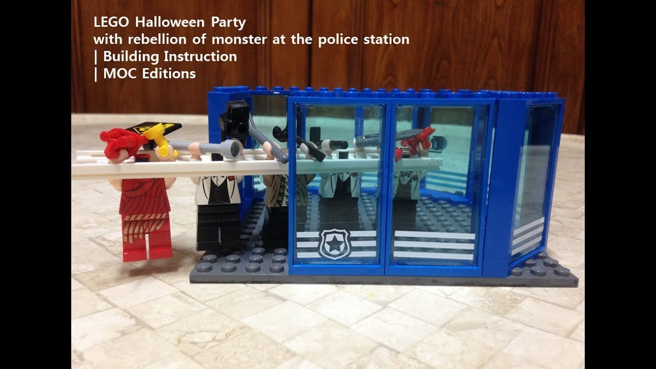 lego police station moc instructions