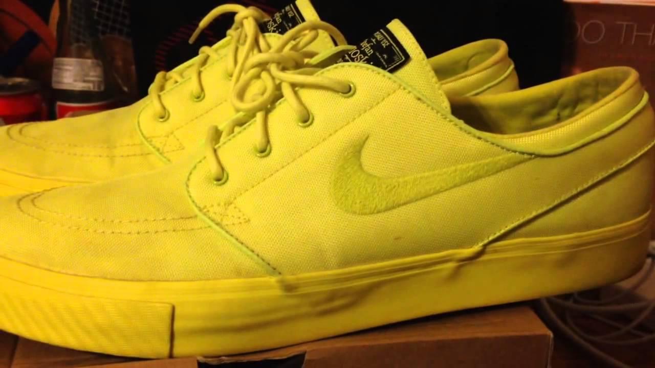 11da22e7c9 Nike sb zoom stefan janoski lemon twist review - YouTube