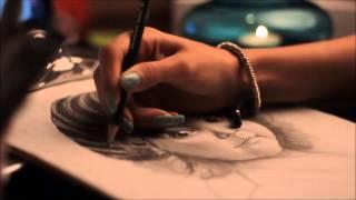 How to draw portrait    بورتريه
