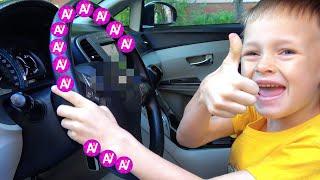 Мы в машине Колеса у автобуса крутятся - Детская песенка от Alex and Nastya