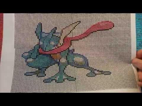 Let S Draw Pixel Art Pokémon Greninja Amphinobi лучшие приколы