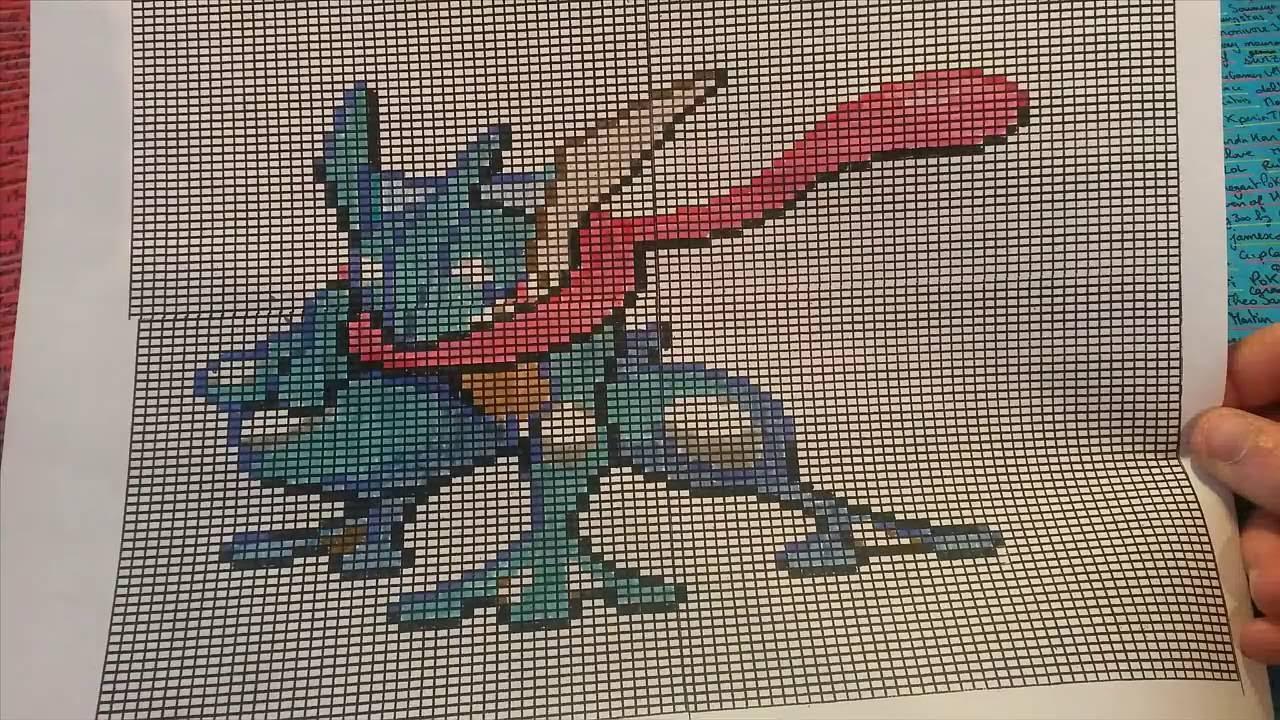 Let S Draw Pixel Art Pokémon Greninja Amphinobi