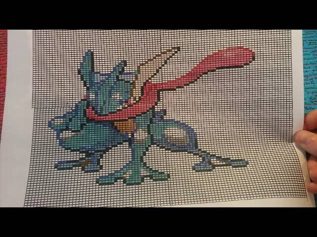 Let S Draw Pixel Art Pokemon Greninja Amphinobi 123vid