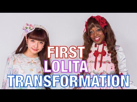 Reina wears LOLITA FASHION FOR THE FIRST TIME | Kawaii MAKEUP TRANSFORMATION | 美沙子青木監修ロリータファッション変身