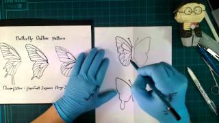 paper cutting 7t cut butterfly creative 7회 나비패턴 창작하기