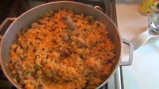 Puerto Rican Rice And Beans Arroz Con Gandules