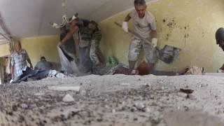 Ужасы войны: Николаевка, Славянск. Разрушенный дом и бабушка под завалами. 03 июля 2014
