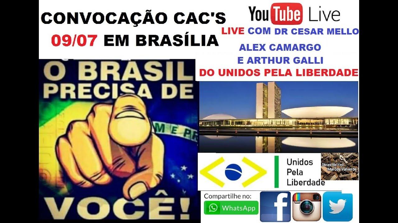 LIVE - UNIDOS PELA LIBERDADE - COM DR. CESAR MELLO, ALEX CAMARGO E ARTHUR GALLI