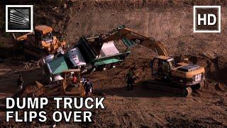 Dump Truck Tips Over