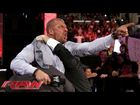 Triple H agrees to face Daniel Bryan at WrestleMania 30: Raw, March 10, 2014