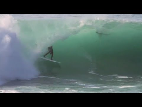 Bali surfers charging perfect Padang