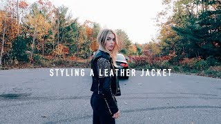 FALL LEATHER JACKET OUTFITS - How to style | Allegra Shaw