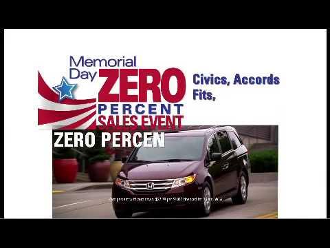 Honda's Memorial Day Zero Percent Sales Event