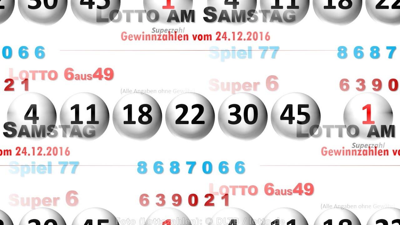 Lottozahlen Vom Samstag Heute Gewinn