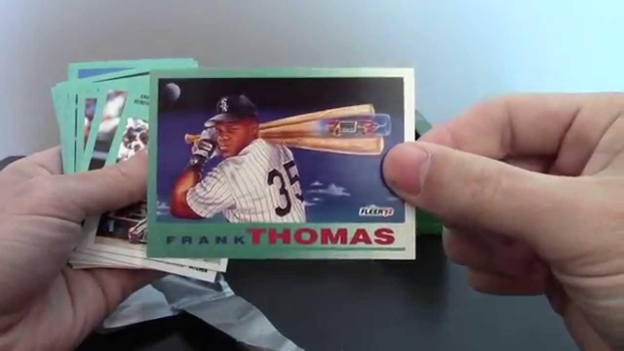 Firehouse Cards 1992 Fleer Baseball Jumbo Box Vintage Break 9 Frank Thomas Rookie Sensations