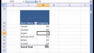 Excel Statistics 15: Category Frequency Distribution W Pivot Table & Pie Chart