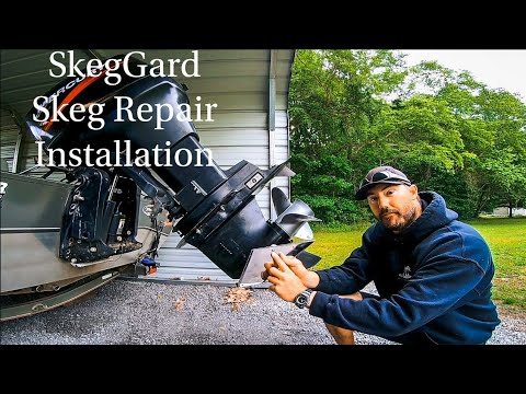 How to REPAIR a DAMAGED or BROKEN Skeg on an Outboard Motor// SkegGard Installation