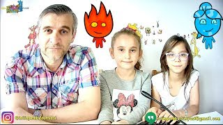 CANLI YAYINDA ATEŞ ve SU - Eğlenceli Oyun Videosu - Funny Games