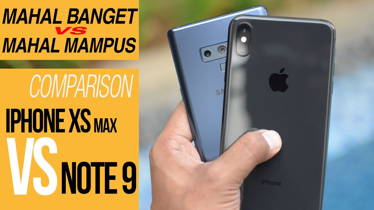 iPhone XS MAX vs Galaxy Note 9 COMPARISON REVIEW INDONESIA