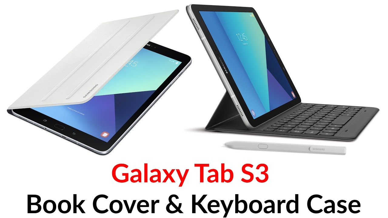 big sale 54b08 82396 Galaxy Tab S3 Book Cover & Keyboard Case