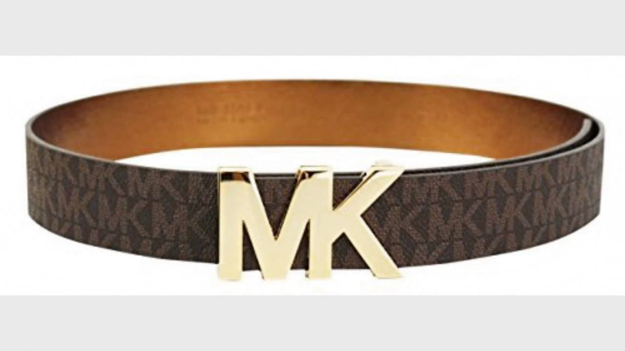 Attractive Michael Kors Signature Belt with MK Plaque M, Brown - YouTube FZ27