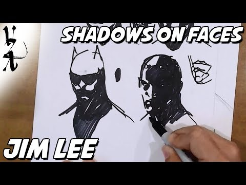 Jim Lee – How to Draw Shadows on Faces