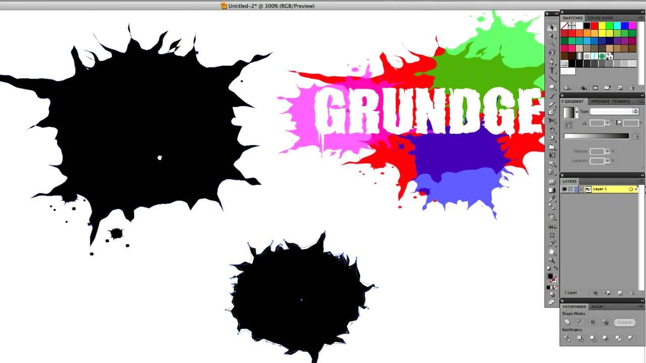 Illustrator Tutorial-Creating custom ink splatters