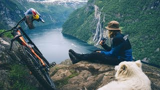 MTB Freerider Makken & his Dog Charge Geiranger Fjord | The Tourist 2