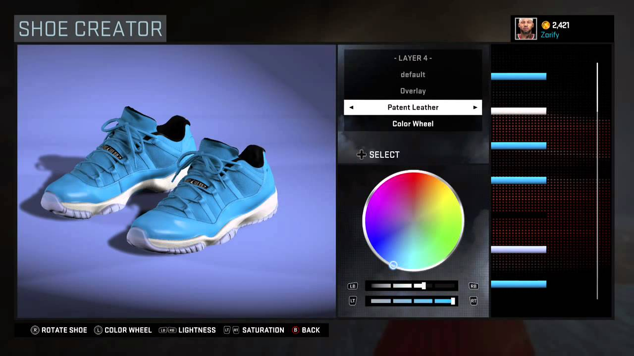 NBA 2K16 Shoe Creator - Air Jordan 11 Low Custom \
