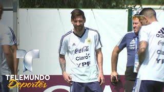 Messi sonríe y se alista para dejar la vida contra Nigeria en Rusia 2018 | Telemundo Deportes