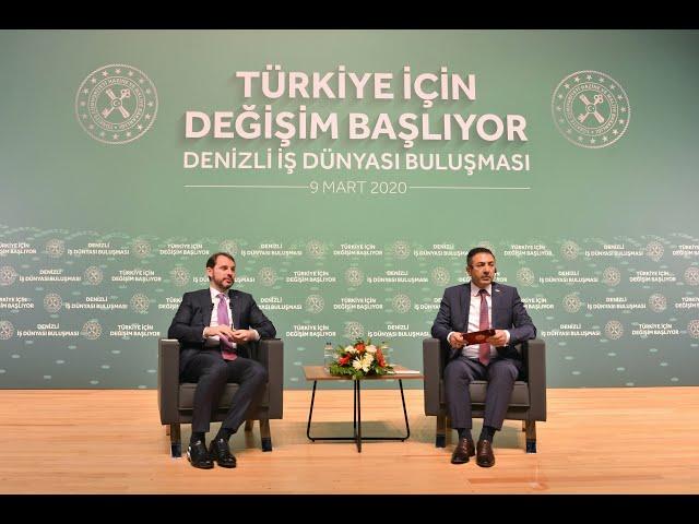 DRT TV-Bakan Berat Albayrak Denizli'de 09.03.2020