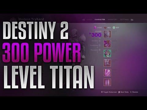 Destiny 2 - 300 Power Level Titan