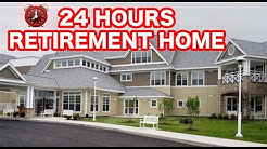 24 HOUR OVERNIGHT in NURSING HOME FORT ⏰ | SNEAKING INTO SCARY RETIREMENT HOME OVERNIGHT CHALLENGE!
