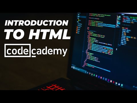 INTRODUCTION TO HTML - Codecademy Course - Learn HTML With Me