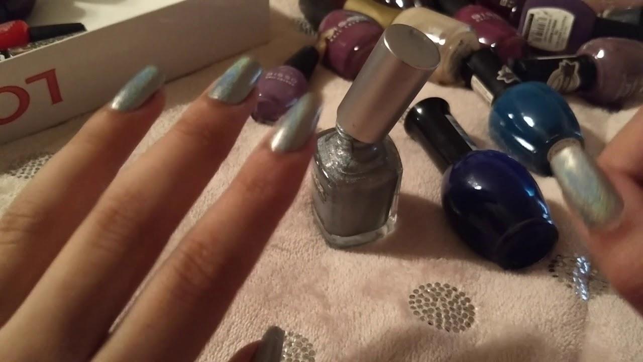 AMSR: Mostrando mis esmaltes y pintándome las uñas. Whispers